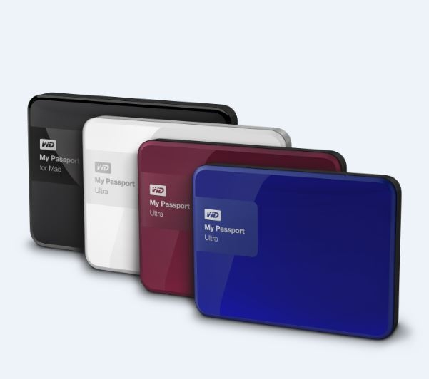 wd my passport ultra 4TB colors