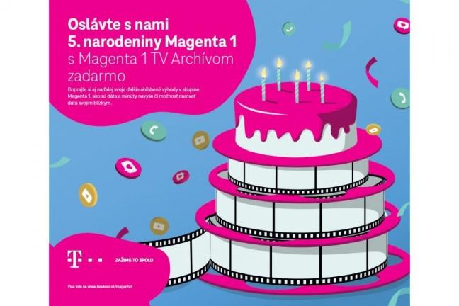 Piate výročie skupiny Magenta 1 oslavuje Telekom novým benefitom