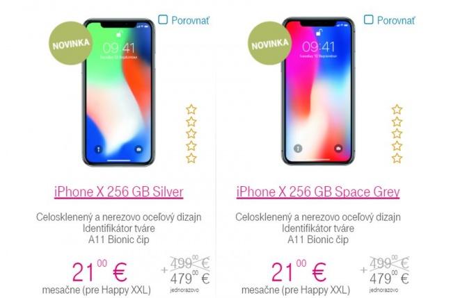 Telekom zaradil do ponuky iPhone X v štyroch verziách 5c760ab77f9