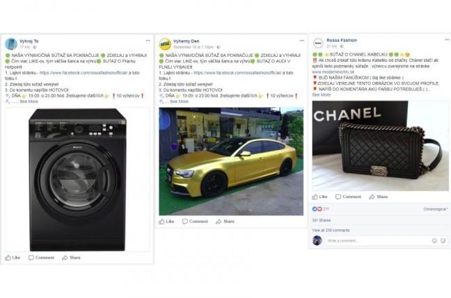 Na Facebooku sa znovu objavili falošné súťaže