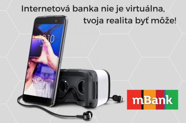 Vyhraj v súťaži s mBank smartfón Alcatel Idol 4S s VR kitom
